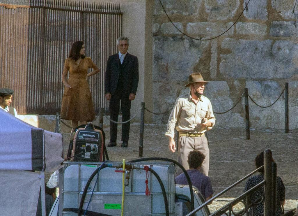 Harrison Ford and Phoebe Waller-Bridge filming Indiana Jones 5 in Cefalù, Sicily