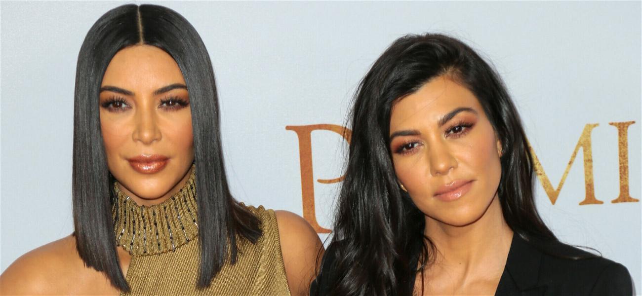 Kourtney Kardashian Caught Off Guard By One of Kim's 'SNL' Jokes