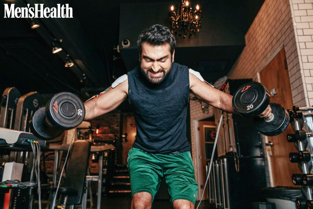 Kumail Nanjiani works out for Men's Health