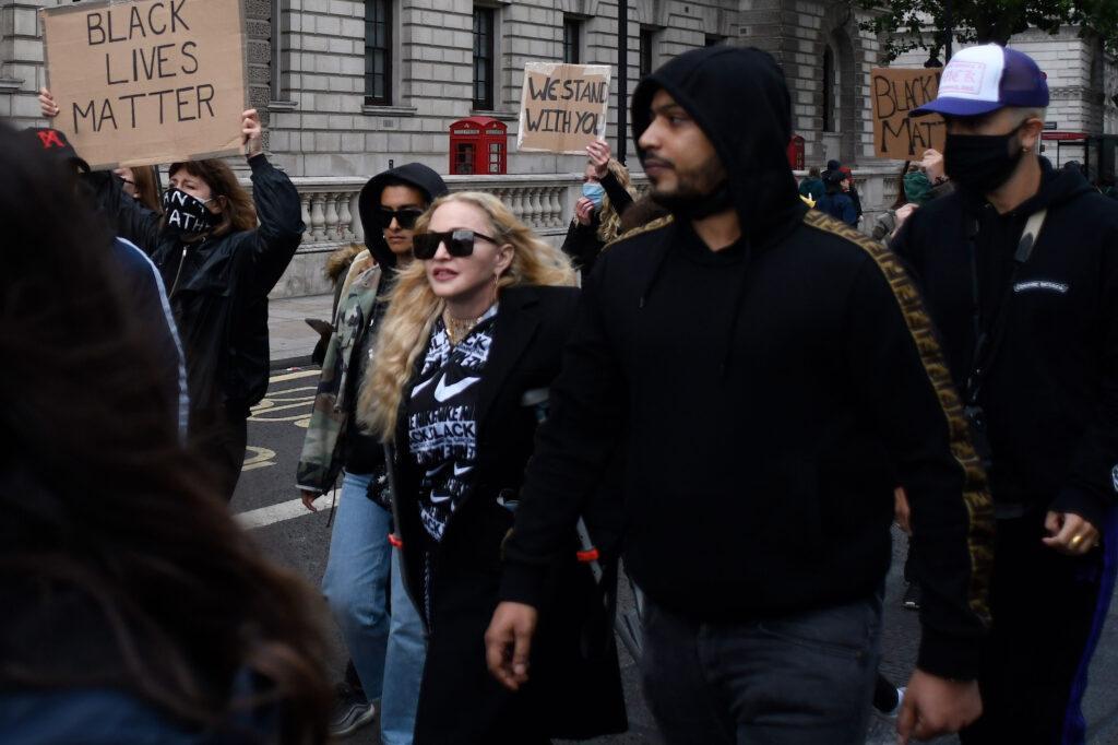 Madonna at Black Lives Matter protest in London
