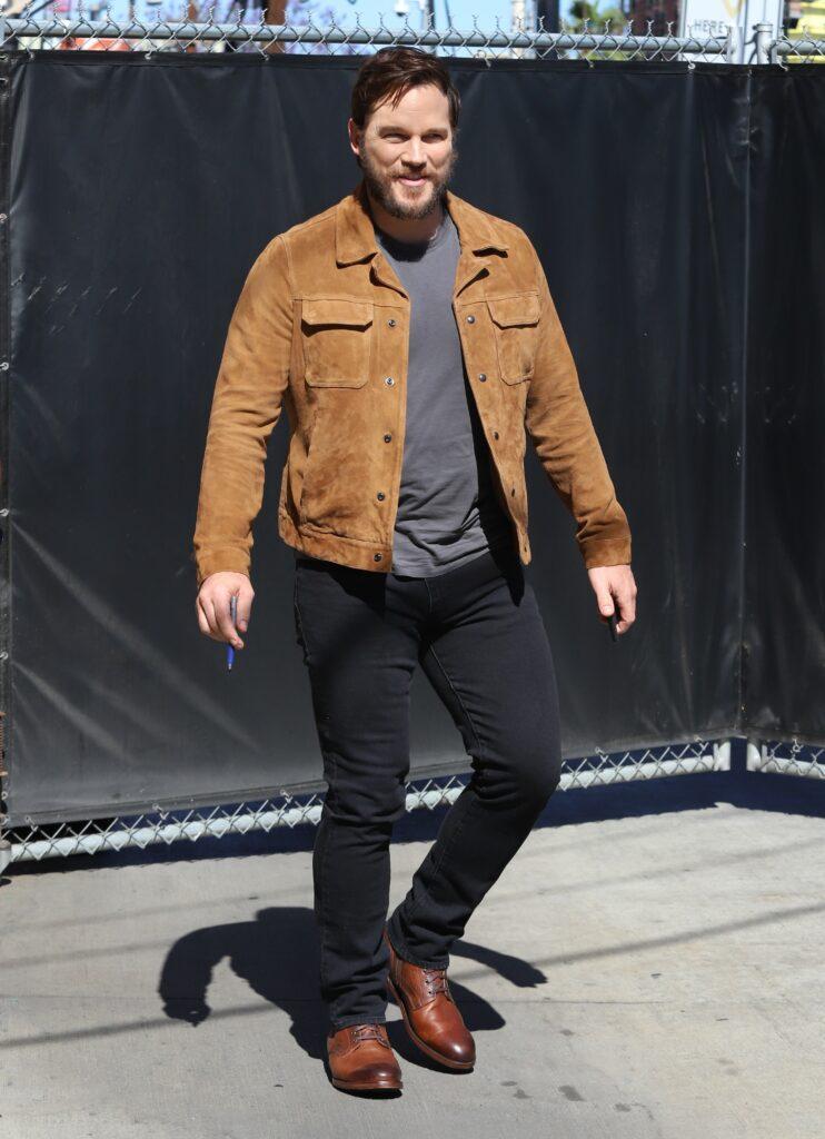 Chris Pratt seen making an appearance at the Jimmy Kimmel show