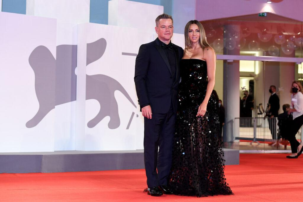 Jennifer Lopez Ben Affleck Nicole Holofcener Director Ridley Scott Jodie Comer and Matt Damon attend the red carpet of the movie quot The Last Duel quot during the 78th Venice International Film Festival