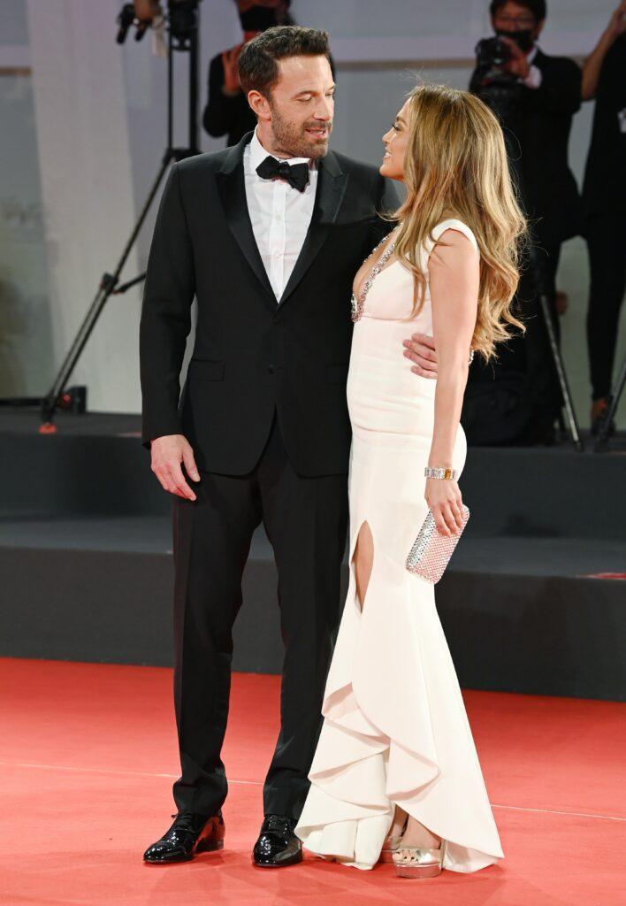 Ben Affleck and Jennifer Lopez arriving at the Venice Film Festival